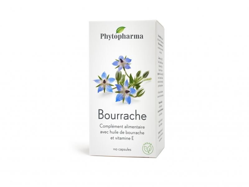 PHYTOPHARMA Bourrache Capsules 500 mg 110 Pièces